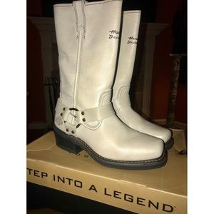 New Harley Davidson pull on leather Moto boots 9